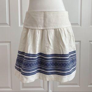 Madewell Skyline White Skirt Cabana Blue Jacquard